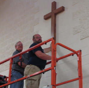 Wooden Cross Placed in DCC Gym_summer 2016