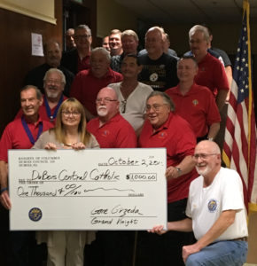 becky-and-knights-of-columbus_donation-to-dcc