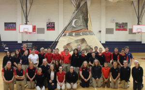 dcc-8th-graders-help-erect-replica-native-american-indian-teepee-in-school-gym